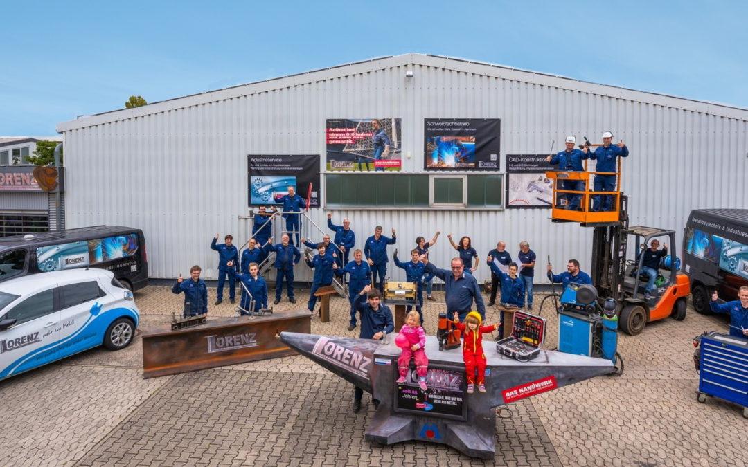 Die Innung Metallhandwerk gratuliert zum 25-jährigen Firmenjubiläum Metallbau Lorenz aus Bad Kreuznach